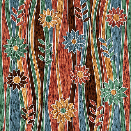 garden flower: Garden decorative pattern