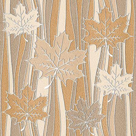 veneer: Maple leaf decorative pattern