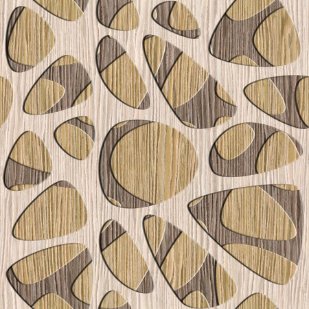 holey: Abstract decorative wall pattern - seamless background - Blasted Oak Groove wood texture