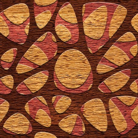 holey: Abstract decorative pattern Network - seamless background - wood texture