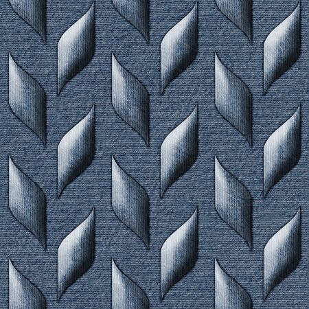 flax: Abstract decorative texture - seamless pattern - blue jeans textile Stock Photo