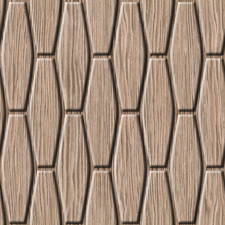 groove: abstract decorative wall - seamless background - Blasted Oak Groove wood texture Stock Photo
