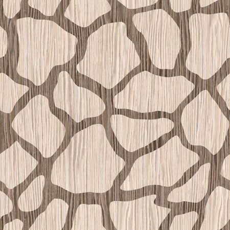 groove: Decorative giraffe pattern - seamless background - Blasted Oak Groove wood texture