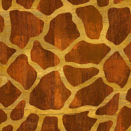 panelling: Abstract giraffe pattern - seamless background - wood surface