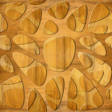 oak wood: Abstract decorative wall pattern - seamless background - Blasted Oak Groove wood texture