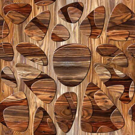 holey: Abstract pattern synapse - seamless background - wood texture