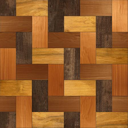 holzvert�felung: Wooden parquet - seamless background - Wood paneling