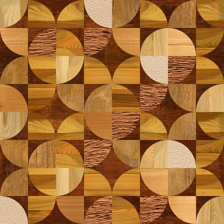 paneling: Abstract paneling pattern - seamless pattern - Wooden decoration