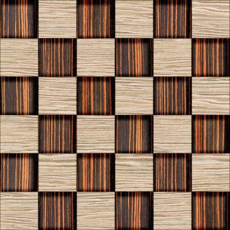 checkered pattern: Decorative checkered pattern - seamless background - wood texture