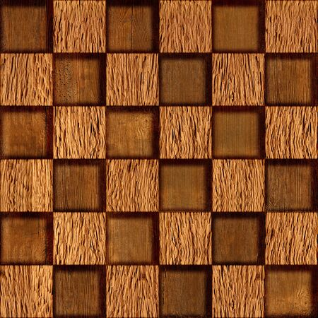 checkered pattern: Abstract checkered pattern - seamless background - wood texture Stock Photo