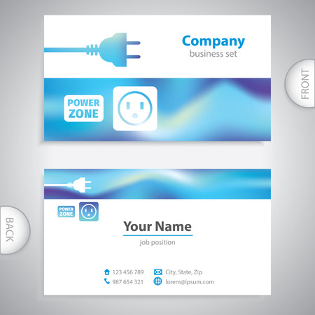 consumer electronics: business card - repairman electrical appliances - consumer electronics - company presentations Illustration
