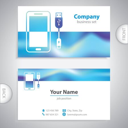consumer electronics: business card - Mobile Accessories - consumer electronics - company presentations