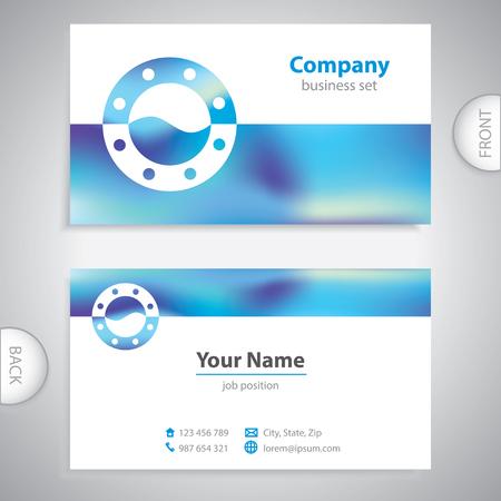 porthole window: business card - ship window - marine Equipment - company presentations Illustration