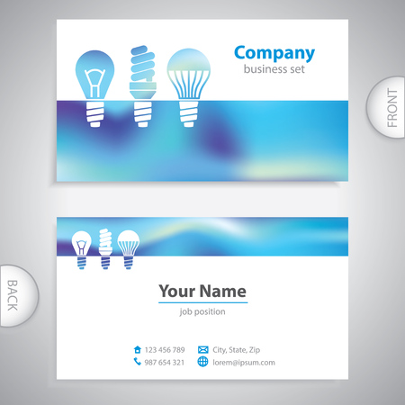 consumer electronics: business card - LED bulbs - Light bulbs - consumer electronics - company presentations