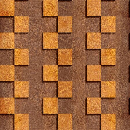 panelling: Abstract paneling pattern - seamless background - Carpathian Elm wood texture - zigzag style Stock Photo