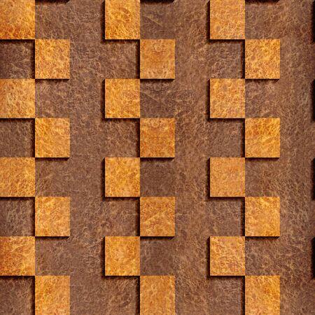 Abstract paneling pattern - seamless background - Carpathian Elm wood texture - zigzag style Stock Photo