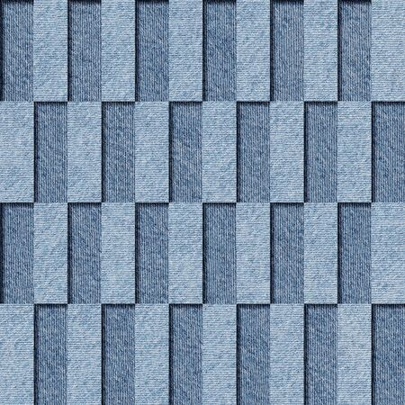 torn jeans: Decorative tile pattern - seamless background - checkerboard fields - blue jeans texture