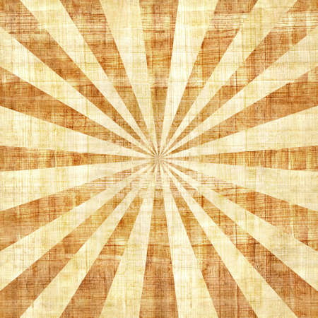 papyrus: Sunbeams abstract background - Radial background - Sunburst style - Vintage Design Template - papyrus texture