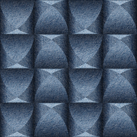 torn jeans: Abstract paneling pattern - seamless background - blue jeans textile