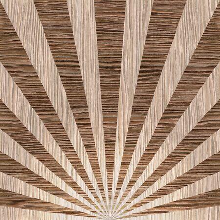 groove: Sunbeams abstract background - Radial background - Sunburst style - Vintage Design Template - Blasted Oak Groove wood texture Stock Photo