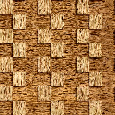 panelling: Decorative checkered wall - seamless background - textures nut - wood wall Stock Photo