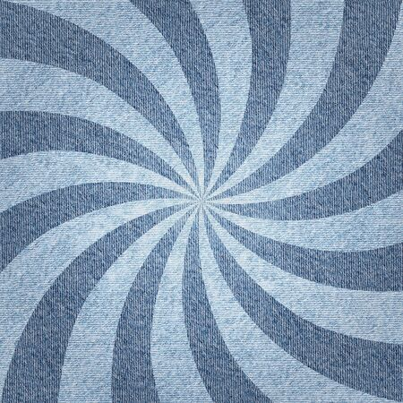 radial background: Sunbeams abstract background - Radial background - Sunburst style - Vintage Design Template - Blue denim jeans Stock Photo