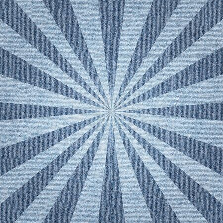 radial background: Sunbeams abstract background - Radial background - Sunburst style - Vintage Design Template - blue jeans textile