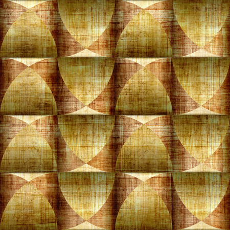 papyrus: Abstract paneling pattern - seamless background - papyrus surface Stock Photo