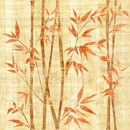 wallpaper wall: Decorative bamboo branches - Bamboo forest background - seamless background - Interior Design wallpaper - wall panel pattern - papyrus texture