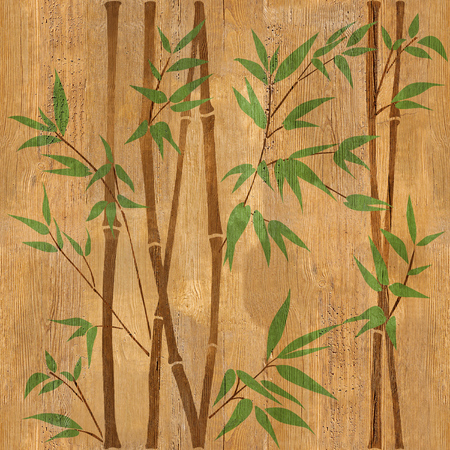 wallpaper wall: Decorative bamboo branches - Bamboo forest background - seamless background - Interior Design wallpaper - wall panel pattern - wood texture