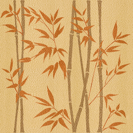 panelling: Decorative bamboo branches - Bamboo forest background - seamless background - Interior Design wallpaper - wall panel pattern - White Oak wood texture