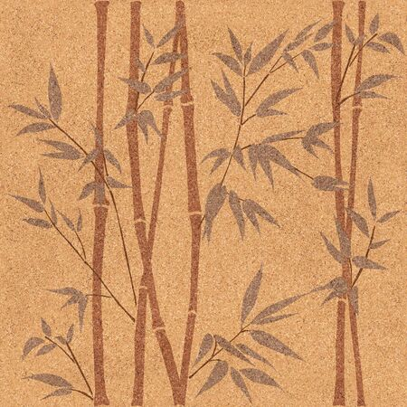 panelling: Decorative bamboo branches - Bamboo forest background - seamless background - Interior Design wallpaper - wall panel pattern - texture cork