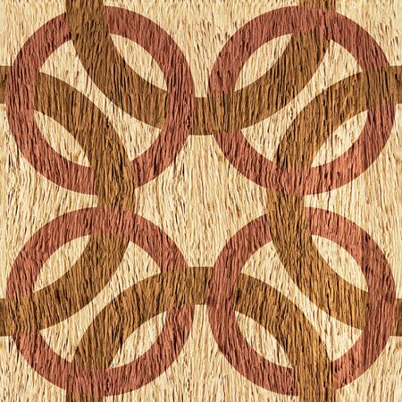 blended: Decorative blended circles - seamless background - Interior Design pattern - Abstract decorative panels - walnut wood texture