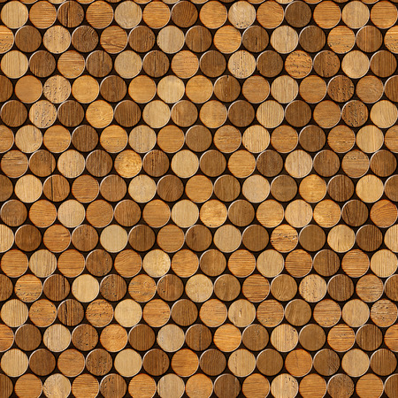 panelling: Decorative pattern of wine bottles corks - seamless background - Interior Design wallpaper - wall panel pattern - wood texture