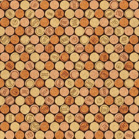 panelling: Decorative pattern of wine bottles corks - seamless background - Interior Design wallpaper - wall panel pattern - texture cork