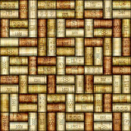 vino: Background pattern of wine bottles corks - seamless background - Interior Design wallpaper - wall panel pattern - papyrus texture