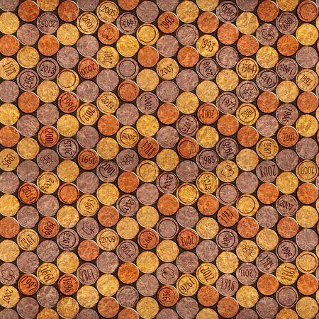 panelling: Decorative pattern of wine bottles corks - seamless background - Interior Design wallpaper - wall panel pattern - Carpathian Elm wood texture