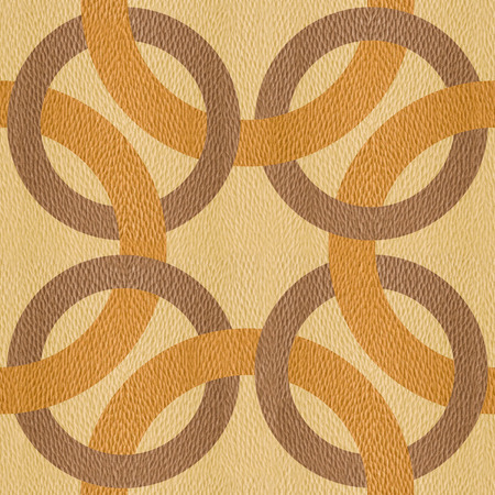 wood paneling: Decorative connected circles - seamless background - Interior Design pattern - Abstract decorative panels - White Oak wood texture