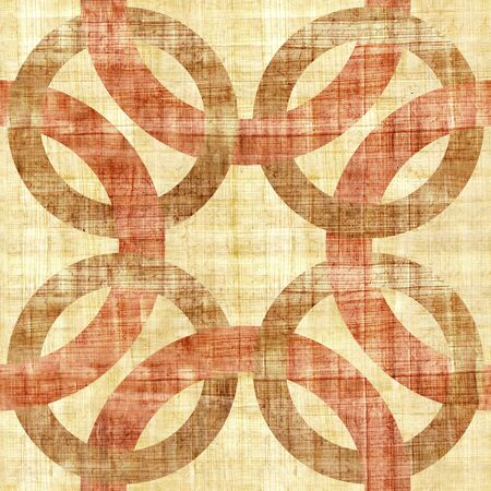 blended: Decorative blended circles - seamless background - Interior Design pattern - Abstract decorative panels - papyrus texture Stock Photo