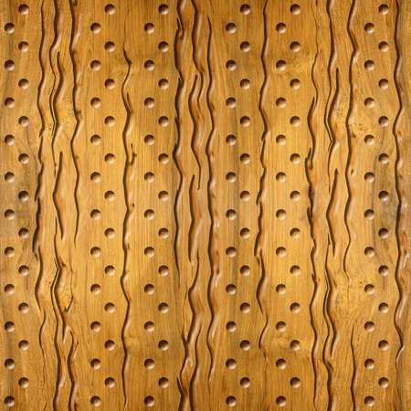 cherry wood: Abstract decorative texture - Interior wall panel pattern - 3D decorative grooves and dots - seamless background - Cherry wood texture