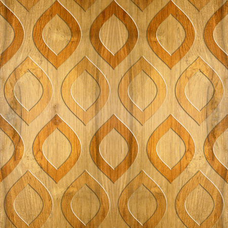cherry wood: Oriental decorative pattern - Cherry wood texture - seamless background - Interior wall panel pattern - imaginary geometric wallpaper Stock Photo