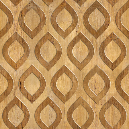 Oriental decorative pattern - wood texture - seamless background - Interior wall panel pattern - imaginary geometric wallpaper Imagens