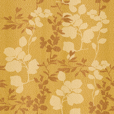 wall decoration: Floral decorative pattern - Interior wall decoration - White Oak wood texture - seamless background