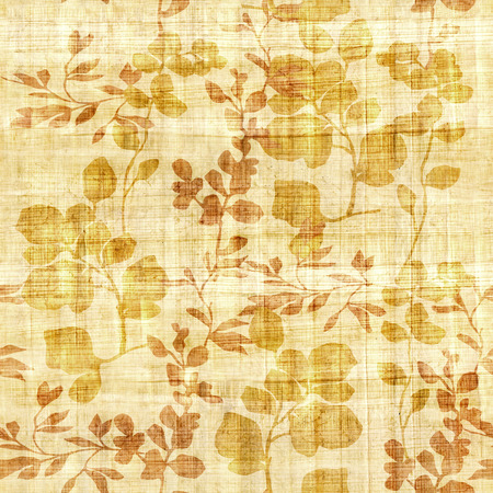 scratchy: Floral decorative pattern - Interior wall decoration - papyrus texture - seamless background