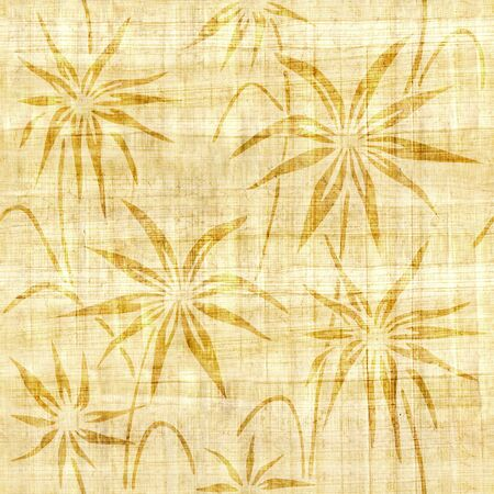 papyrus: Floral decorative pattern - papyrus texture - seamless background