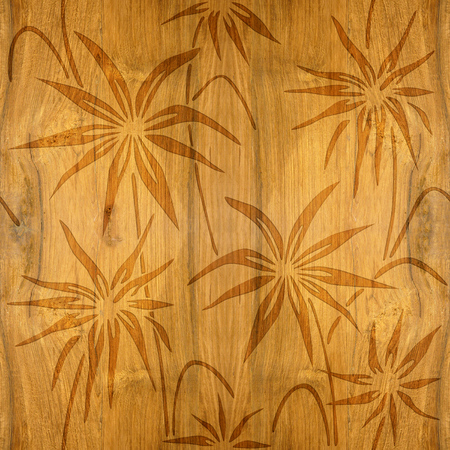 cherry wood: Floral decorative pattern - Cherry wood texture - seamless background