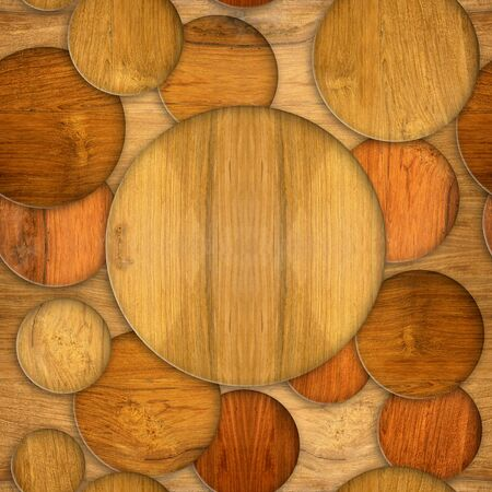 cherry wood: Abstract decorative circles - seamless background - Cherry wood texture