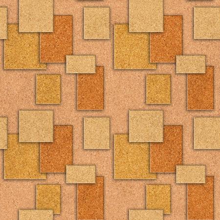 tile pattern: Interior wall panel pattern - decorative tile pattern - seamless background - texture cork Stock Photo