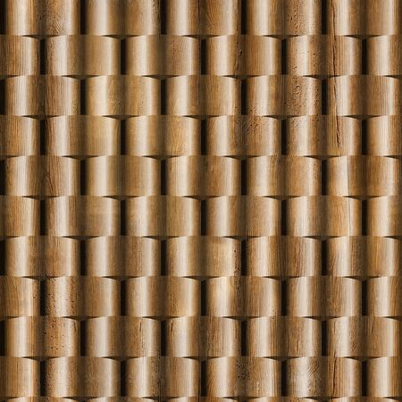 wickerwork: 3D wall decorative tiles, Wood texture, Decorative paneling pattern, Interior Design wallpaper, Continuous replication, Different colors, Seamless background, Ripple pattern
