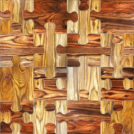 panelling: Wooden puzzles assembled for seamless background. Wallpaper texture background, Different colors, Endless texture, pattern fills, Web page background, surface textures, seamless background Stock Photo